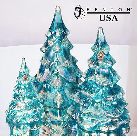 fenton art glass newsletter - Glass Christmas Tree