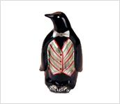 Penguin, 4-1/2'' with vest/bowtie design by Michelle Kibbe