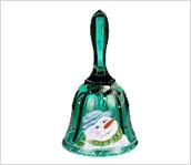 6-1/4'' Emerald Green Snowman Bell