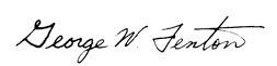 George Fenton Signature